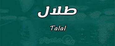 ما معنى اسم طلال Talal وصفات حامل الاسم