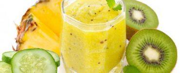 طريقة تحضير عصير الأناناس والكيوي لحرق الدهون