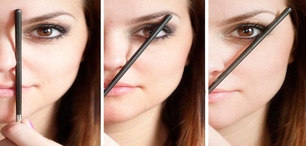 رسمات الحواجب التي تناسب شكل الوجه بالصور