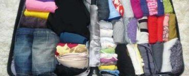 طريقة ترتيب الملابس في شنطة السفر