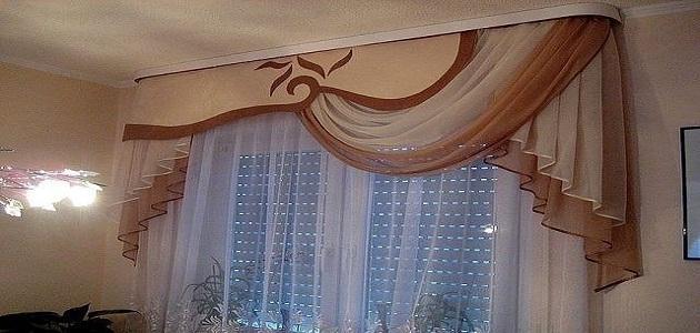 طريقة تفصيل الستائر في المنزل