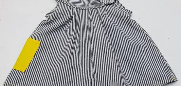 طريقة تفصيل فستان بسيط