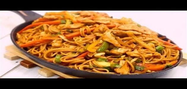 طريقة عمل الأكل الصيني باللحم والمكرونة