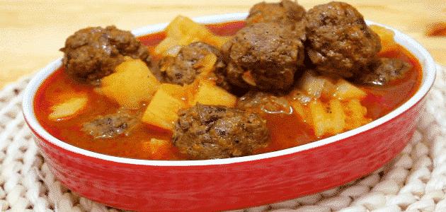 طريقة عمل يخنة اللحم مع الطماطم والبطاطس