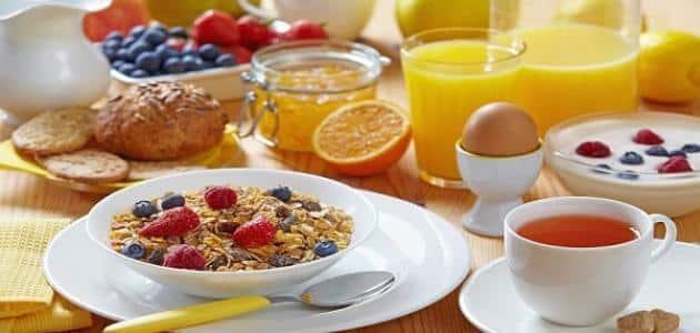 ما هي وجبة الفطور الصحية للرجيم