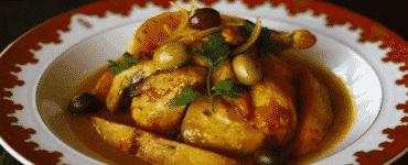 طريقة عمل طاجن الدجاج المغربي بالزيتون