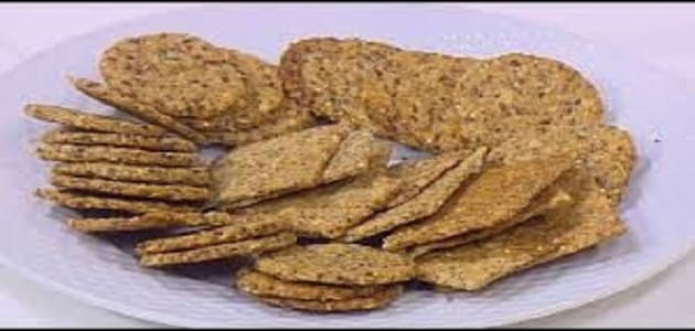 شرائح الخبز المشبعه بالعدس والشوفان بدون دقيق